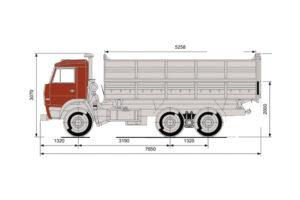 Габаритная схема КАМАЗ-45143